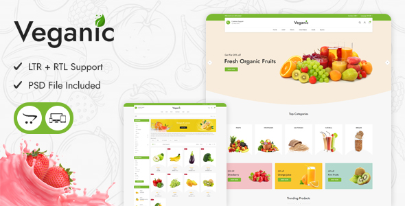 Veganic - Responsive OpenCart Theme